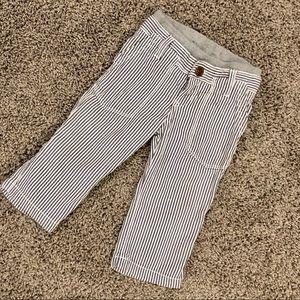 Boys GAP pull on seersucker pants, size 12-18M